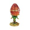 Design Toscano A Garden Strawberry Treasure Faberge Style Enameled Egg Decorative Sculpture
