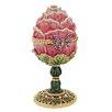 Design Toscano A Garden Rose Treasure Faberge Style Enameled Egg Decorative Sculpture