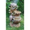 Design Toscano Resin Turtle Cove Cascading Sculptural Fountain