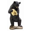 Design Toscano Black Bear Resin Beehive Spitter Piped Statue