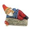 Design Toscano Gideon, the Garden Gnome Welcome Sign Statue