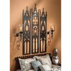 Design Toscano Gothic Cathedral Triptych Metal Wall Sculpture