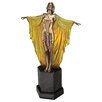 Design Toscano Majestic Maiden Art Deco Illuminated Sculpture