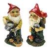 Design Toscano Garden Gnome 2 Piece Statue Set