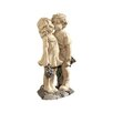Design Toscano Young Sweethearts Kissing Children Garden Statue