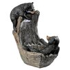 Design Toscano Resin Bathing Black Bear Cubs Cascading Garden Fountain
