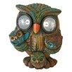 Design Toscano Bright Eyes Solar Owl Family Garden Statue