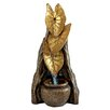 Design Toscano Resin Elephant Ear Tropical Leaf Cascading Garden Fountain