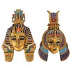 Design Toscano 2 Piece Masks of Egyptian Royalty Sculptures Wall Décor Set