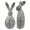 Design Toscano 2 Piece Big Burly Bunny Rabbit Statue Set