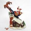 Design Toscano Santa's Christmas Sleigh Ride Mechanical Coin Bank