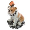 Sid Victorious Punk Bulldog Statue - Design Toscano Garden Statues and Outdoor Accents