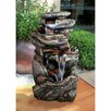 Cathedral Rocks Cascading Waterfall Garden Fountain with Light - Design Toscano Indoor and Outdoor Fountains