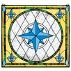 Design Toscano Compass Rose Stained Glass Window