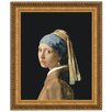 Design Toscano The Girl with a Pearl Earring, 1665 by Johannes Vermeer Framed Painting Print