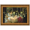 Design Toscano The End of Dinner by Jules Alexander Grun Framed Painting Print