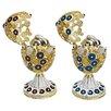 Design Toscano The Lepridae Faberge - Style Enameled Egg Set