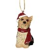 Design Toscano Yorkie Holiday Dog Ornament Sculpture