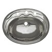 Whitehaus Collection Decorative Smooth Oval Bathroom Sink