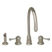 Whitehaus Collection Evolution Two Handle Widespread Kitchen Faucet with Side Spray
