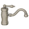 Whitehaus Collection Vintage III Single Hole Elevated Bathroom Faucet with Single Handle