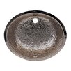 Whitehaus Collection Oval Hammered Textured Undermount Basin with Overflow