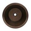 Whitehaus Collection Copperhaus Round Drop-In/Undermount Basin