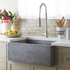 "Native Trails, Inc. Farmhouse 30"" x 18"" Stone Kitchen Sink"