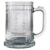 Susquehanna Glass Clipper Ship Hand-Cut Tankard Mug (Set of 4)