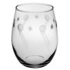 Susquehanna Glass Apollo Handcut Stemless Wine Glass (Set of 4)