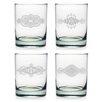 Susquehanna Glass 14 Oz. Mandalas Rocks Glass (Set of 4)