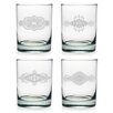 Susquehanna Glass Mandalas Rocks Glass (Set of 4)