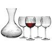 Susquehanna Glass Sonoma 5 Piece Carafe and Red Wine Glass Set