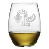 Susquehanna Glass Crazy Cat Lady 21 Oz. Stemless Wine Glass (Set of 4)