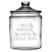 Susquehanna Glass 64 Oz. Three Dogs Ago Half Gallon Jar with Lid