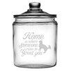 Susquehanna Glass 64 Oz. Someone Runs to Greet You Half Gallon Jar with Lid