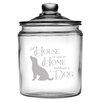 Susquehanna Glass 64 Oz. House Home Dog Half Gallon Jar with Lid
