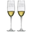 Susquehanna Glass Best Friends for Life Champagne Flute (Set of 2)