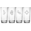 Susquehanna Glass Southwestern Hiball Glass Set
