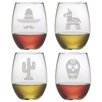 Susquehanna Glass Fiesta Stemless Wine Glass (Set of 4)