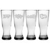 Susquehanna Glass Comic Chaos Grand Pilsner (Set of 4)