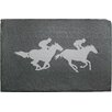 Susquehanna Glass 2 Piece Racehorses Slate Cheese Server