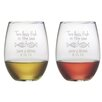Susquehanna Glass Two Less Fish Stemless Wine Glass (Set of 2)