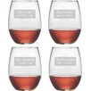 Susquehanna Glass Hamptons 4 Piece 21 oz. Stemless Wine Glass Set
