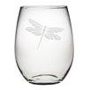Susquehanna Glass Dragonfly Stemless Wine Glass (Set of 4)