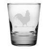 Susquehanna Glass Rooster Double Old Fashioned Glass (Set of 4)