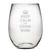 Susquehanna Glass Keep Calm & Drink Wine Stemless Wine Glass