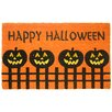 Geo Crafts, Inc Halloween Pumpkin Fence Doormat