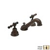 Rohl Cisal Double Handle Widespread Bathroom Faucet with Lever Handle and Pop-Up Drain