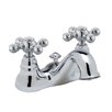 Rohl Cisal Double Handle Centerset Bathroom Faucet with Cross Handle and Pop-Up